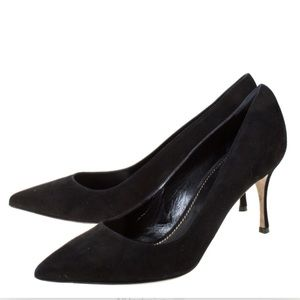 Sergio Rossi Classics Black Pointed Pumps
